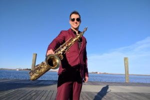 Sax in the city: Chris Godber playing Friday's 4th annual Sound of Motown